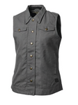 Roland Sands Design Women's Hayden Canvas Vest Grey