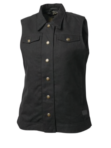 Roland Sands Design Women's Hayden Canvas Vest Black