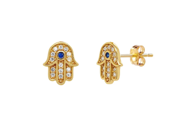 Sparkle Hamsa Earrings
