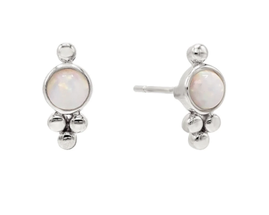 Opal Trinity Stud Earrings