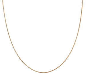 "18"" Snake Chain Necklace Gold Fill"