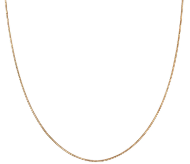 "16"" Snake Chain Necklace Gold Fill"