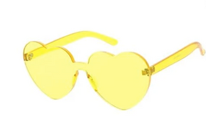 Clear Heart Sunglasses Yellow