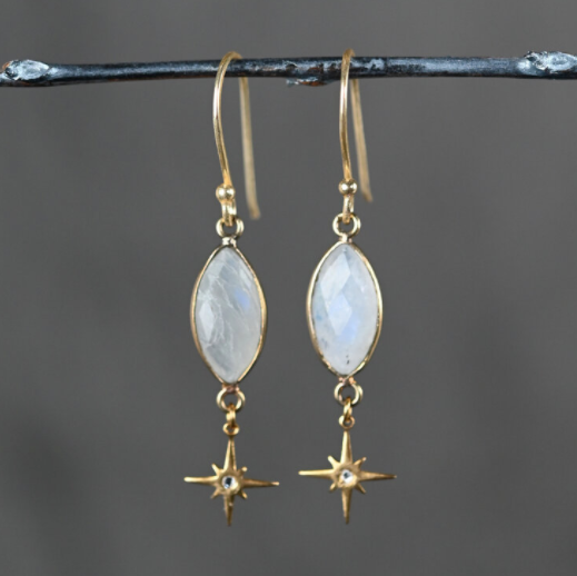 Moonstones with Hanging Star