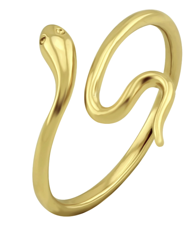 Slither Snake Ring Gold