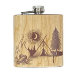 Camp Fire Wood Flask