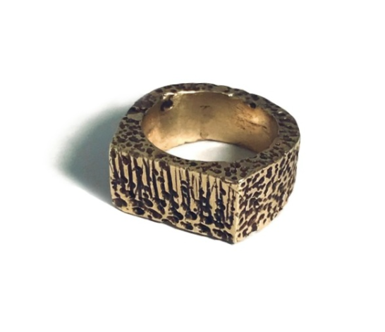 Etch Signet Ring Bronze