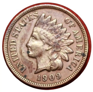 1909 Indian Head Penny Coaster