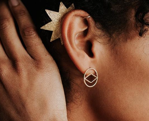 Star Brass Ear Cuff