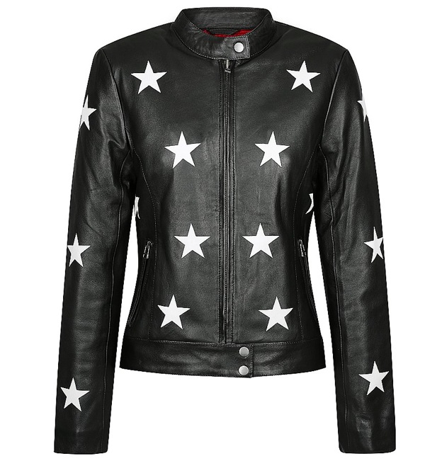 Reflective Star Midnight Motorcycle Jacket