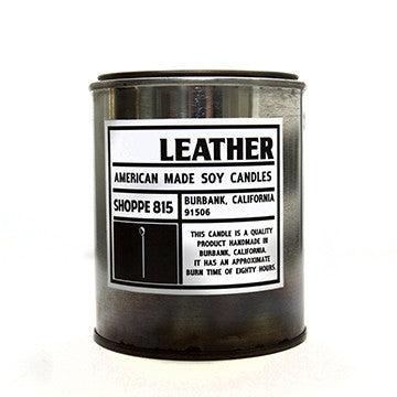 Leather Tin Candle