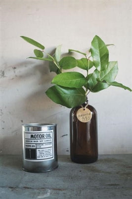 Motor Oil Tin Candle