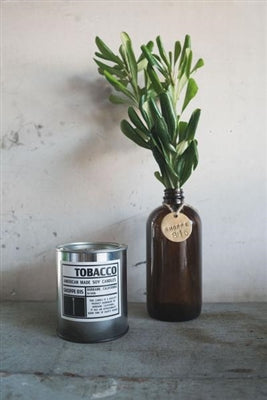 Tobacco Tin Candle
