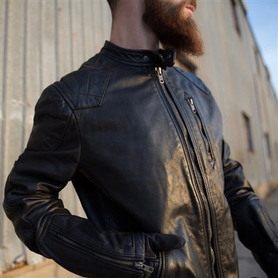 Tarnish Lightweight Men's Leather Moto Jacket