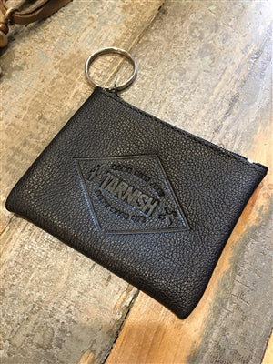 Tarnish 'Some Dirt Just Don't Wash Off' Leather Coin Purse Key Fob