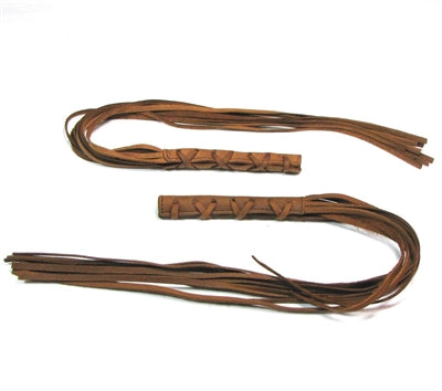 Brown Leather Fringe Lever Covers