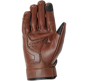 Women's Brown Leather Bonnie Perforated Riding Gloves