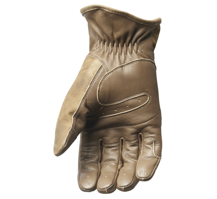 Roland Sands Design Men's Truman Ranger Waxed Cotton Gloves