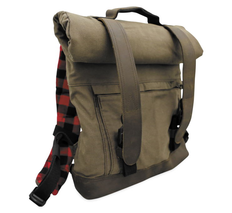 Burly Brand Brown Backpack