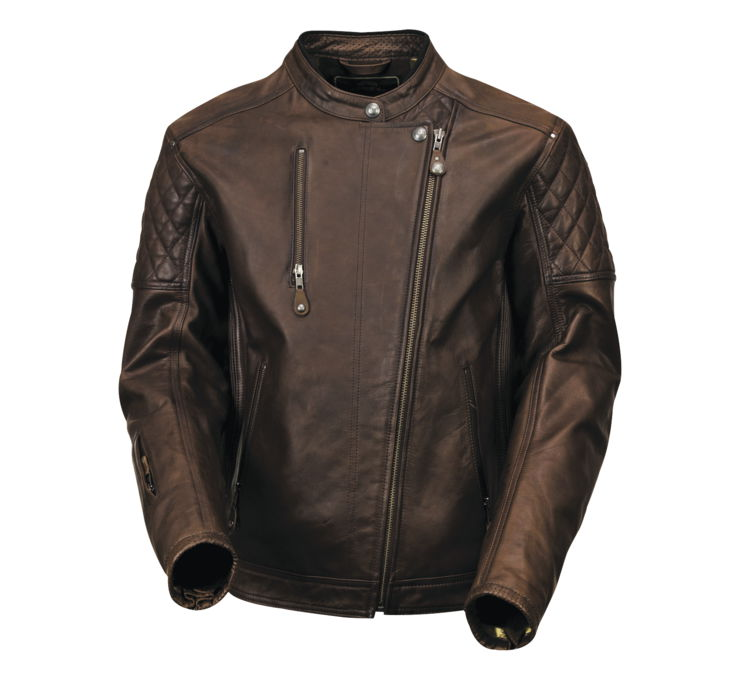 Roland Sands Design Men's Brown Clash Leather Jacket