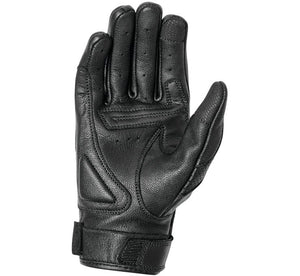 Women's Black Leather Bonnie Perforated Riding Gloves
