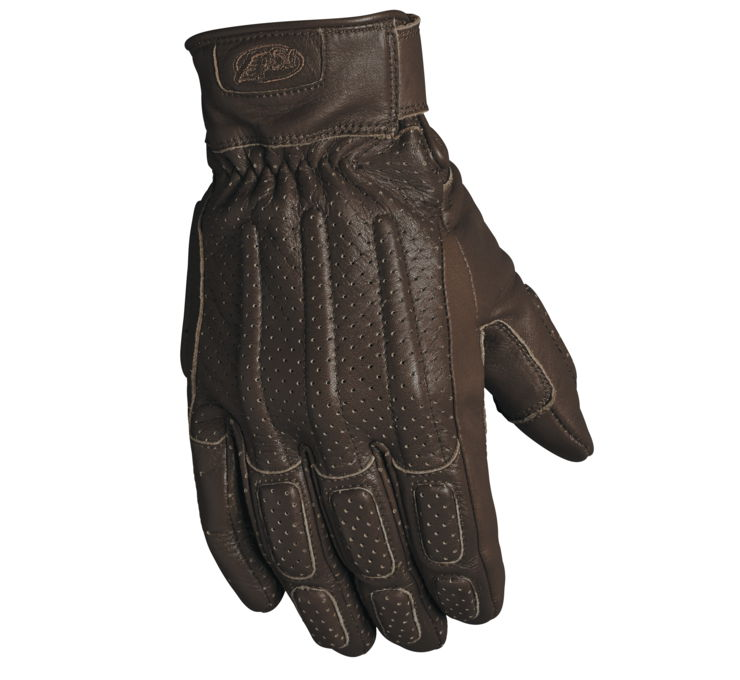 Roland Sands Design Men's Brown Rourke Leather Gloves