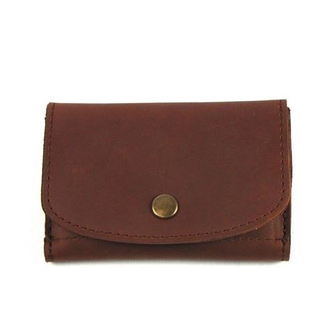 Brown Leather Snap Wallet