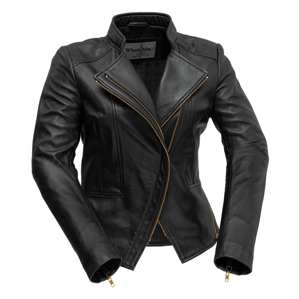 Zoey Lightweight Leather Jacket Black