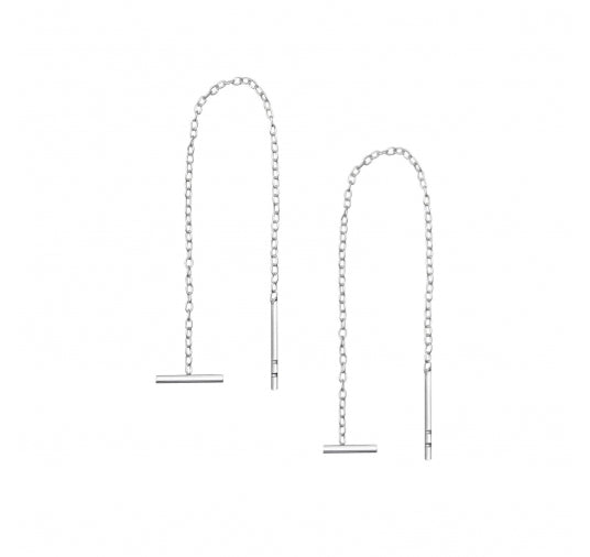 Sterling Silver Bar Threader Earrings