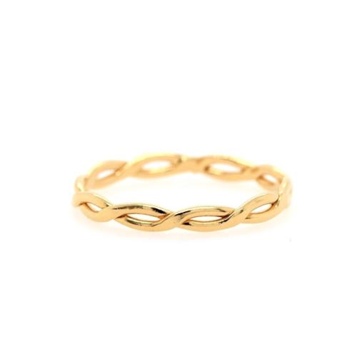 Gold Braided Skinny Ring