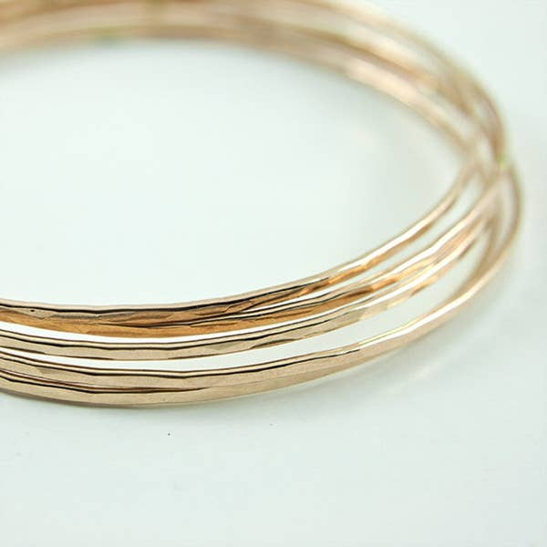 Single Thin Gold Fill Bangle