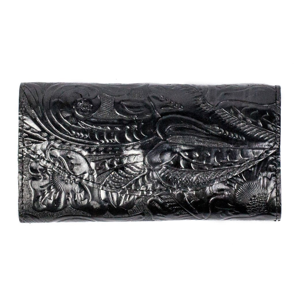 Black Tooled Women's Wallet