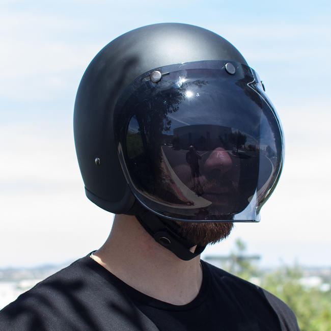 Biltwell Smoke Anti Fog Bubble Shield