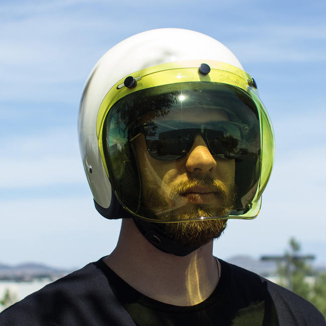 Biltwell Yellow Anti Fog Bubble Shield