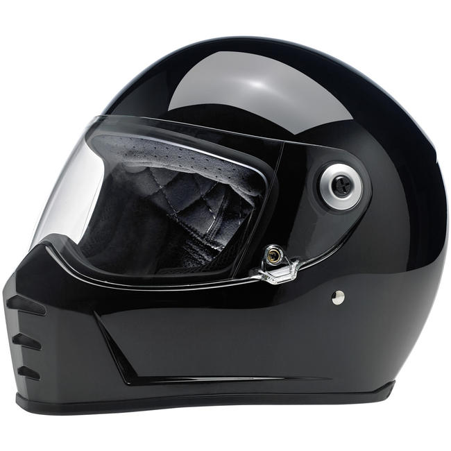 Biltwell Gloss Black Lane Splitter Helmet