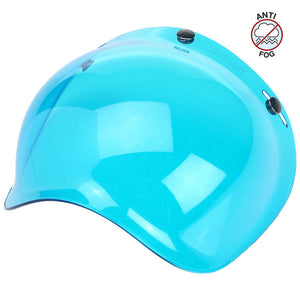 Biltwell Blue Anti Fog Bubble Shield