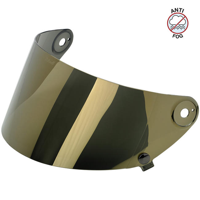 Biltwell Gringo S Gen 2 Flat Shield - Gold Mirror