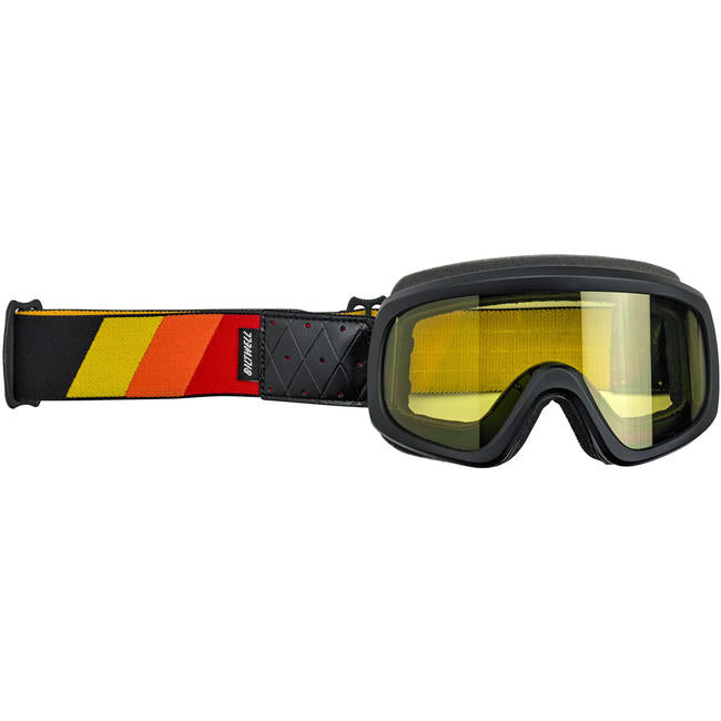 Biltwell Black Yellow Red Tri Stripe Overland Goggles