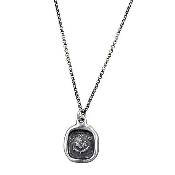 Wax Seal Pendant Patience Necklace