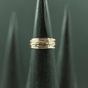 Thin Hammered 14k Gold Fill Rings