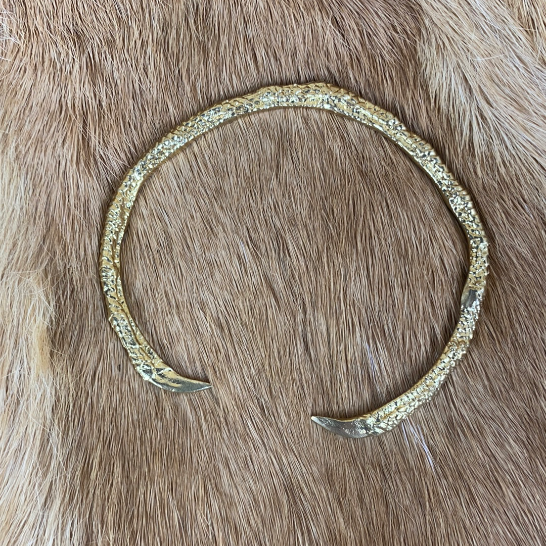 Bronze Claw Bangle Bracelet