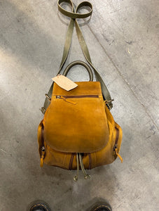 Forever Suede Expandable Backpack Tan