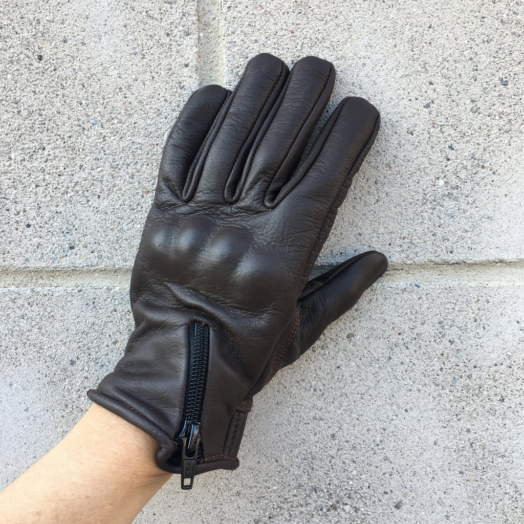 Dark Brown Jett Women's Motorcycle Glove by Tarnish