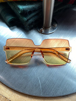 Square Degrade Sunglasses Orange/Yellow