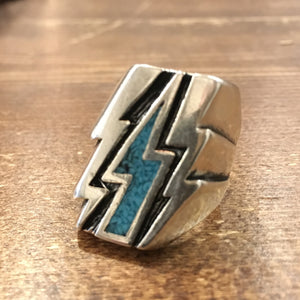 Turquoise Lightning Bolt Ring