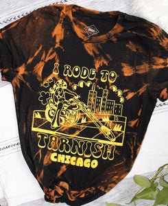SPECIAL ORDER - Tie Dye I Rode to Tarnish Unisex Tee Black