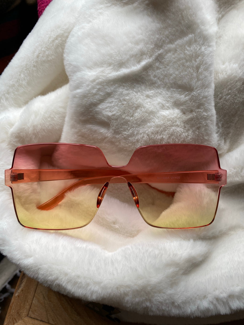 Square Degrade Sunglasses Pink/Yellow