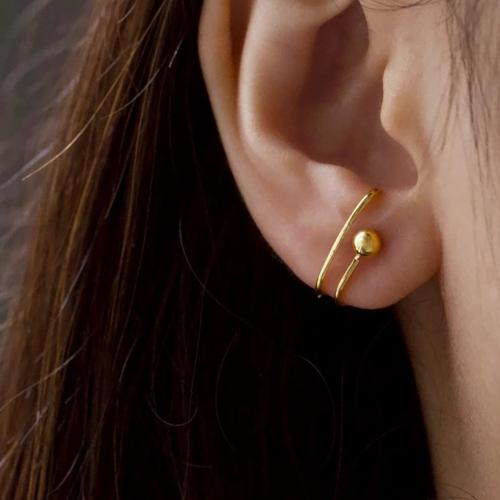 Gold Solstice Suspender Earrings