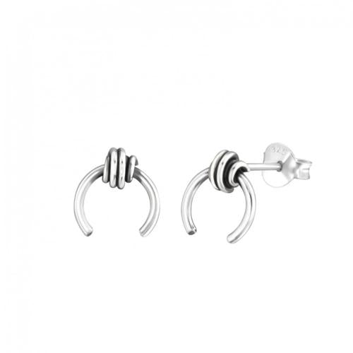 Sterling Tribal Knot Earrings