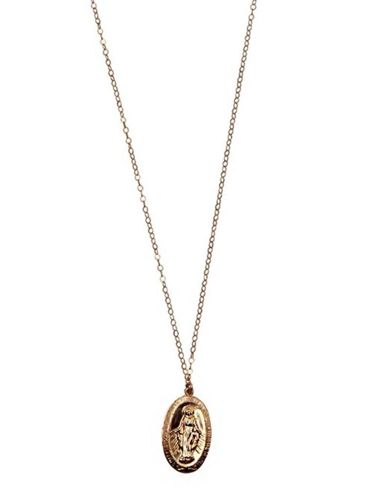 Gold Virgin de Guadalupe Necklace